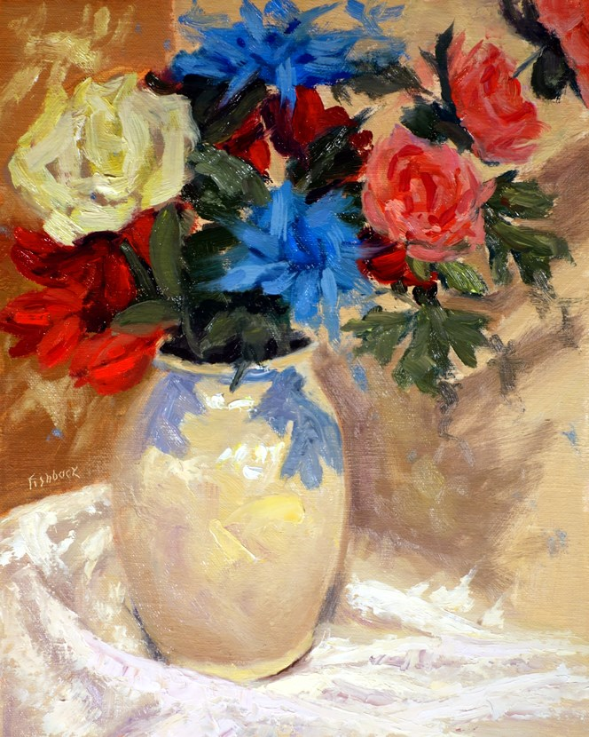 """Bouquet and Vase"" original fine art by Daniel Fishback"
