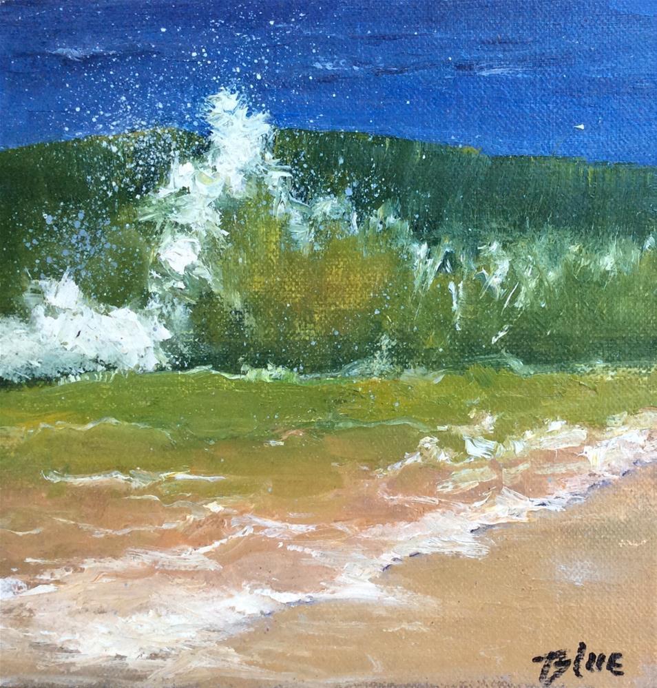 """""""Malibu Breaker"""" original fine art by Jacquelyn Blue"""