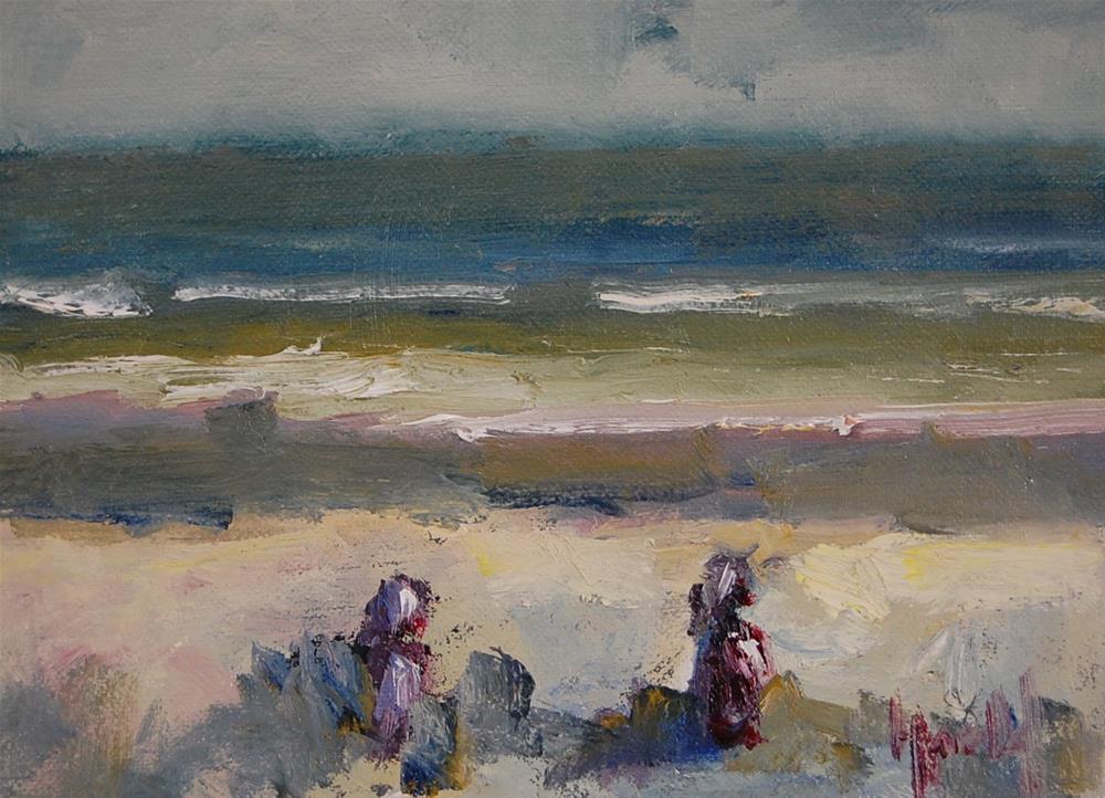 """Beach Play Study"" original fine art by Deborah Harold"
