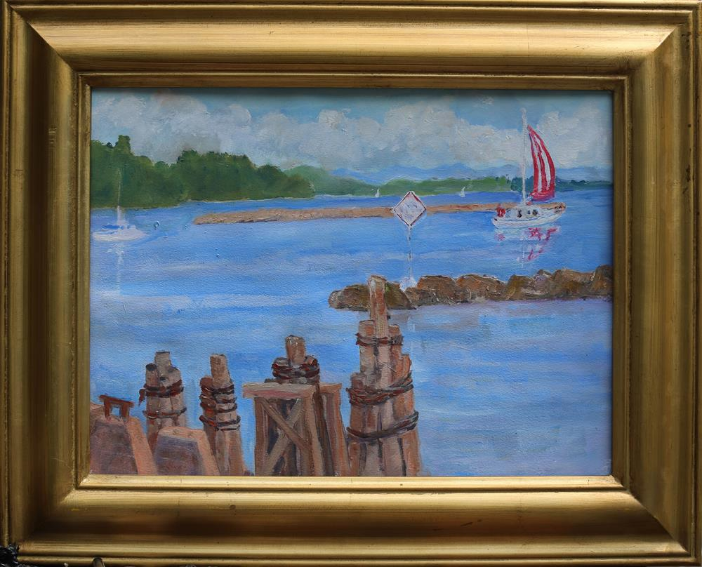 """A Good day for a sail"" original fine art by Michael Saunders"