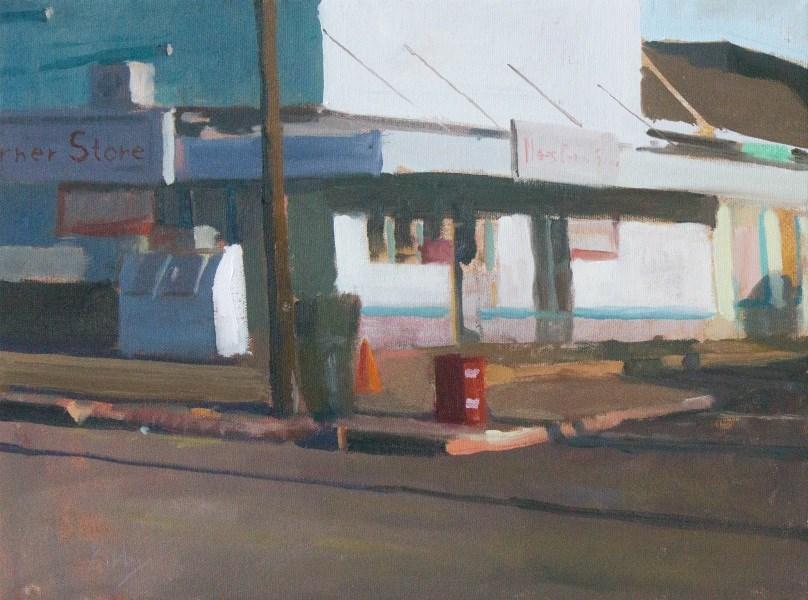"""On the Corner"" original fine art by Randall Cogburn"