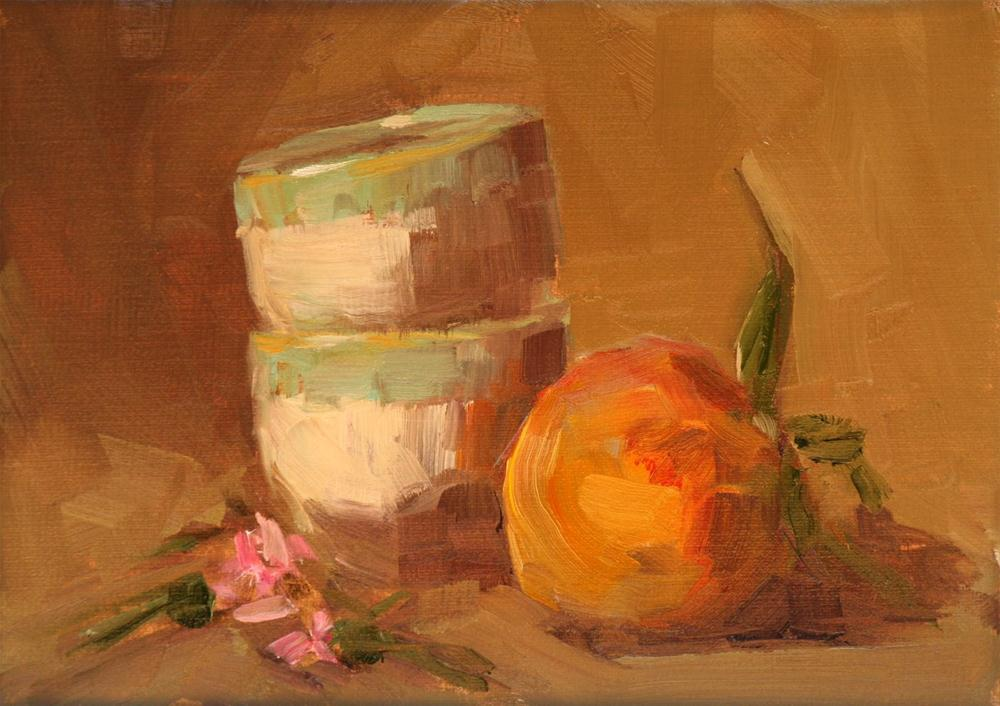 """just peachy"" original fine art by Carol Carmichael"
