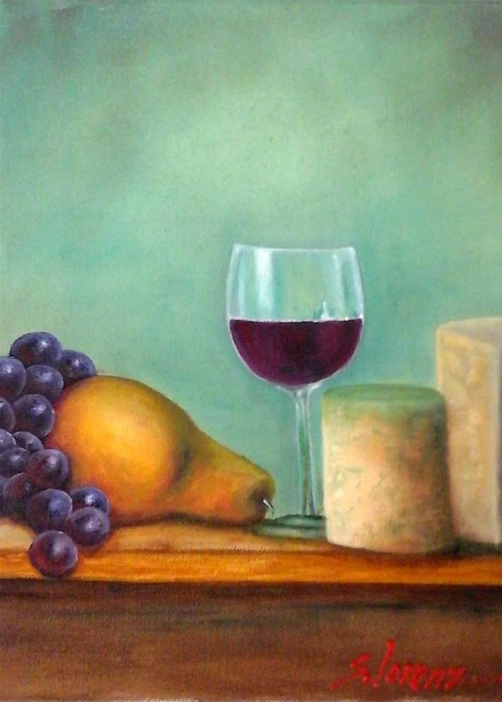 """""""Whine & Cheesy"""" original fine art by Sue Lorenz"""