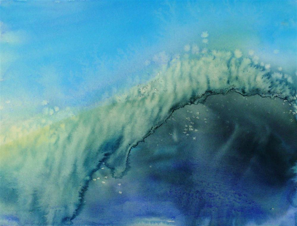"""The Big Curl"" original fine art by Susan Duda"