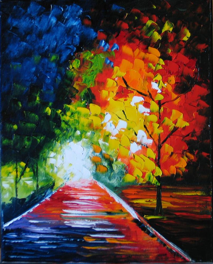 """Path into the Light"" original fine art by Richard St.Jean"