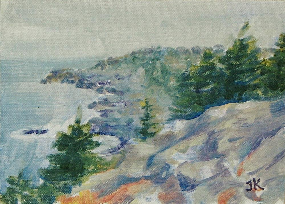 """Monhegan Gray"" original fine art by J Kelsey"
