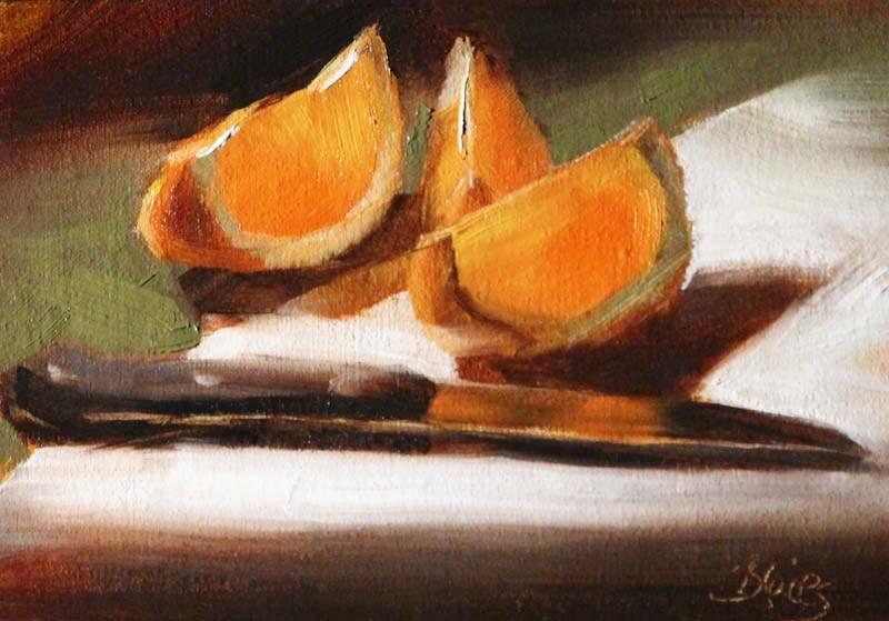 """Sliced Sunshine"" original fine art by Pamela Blaies"