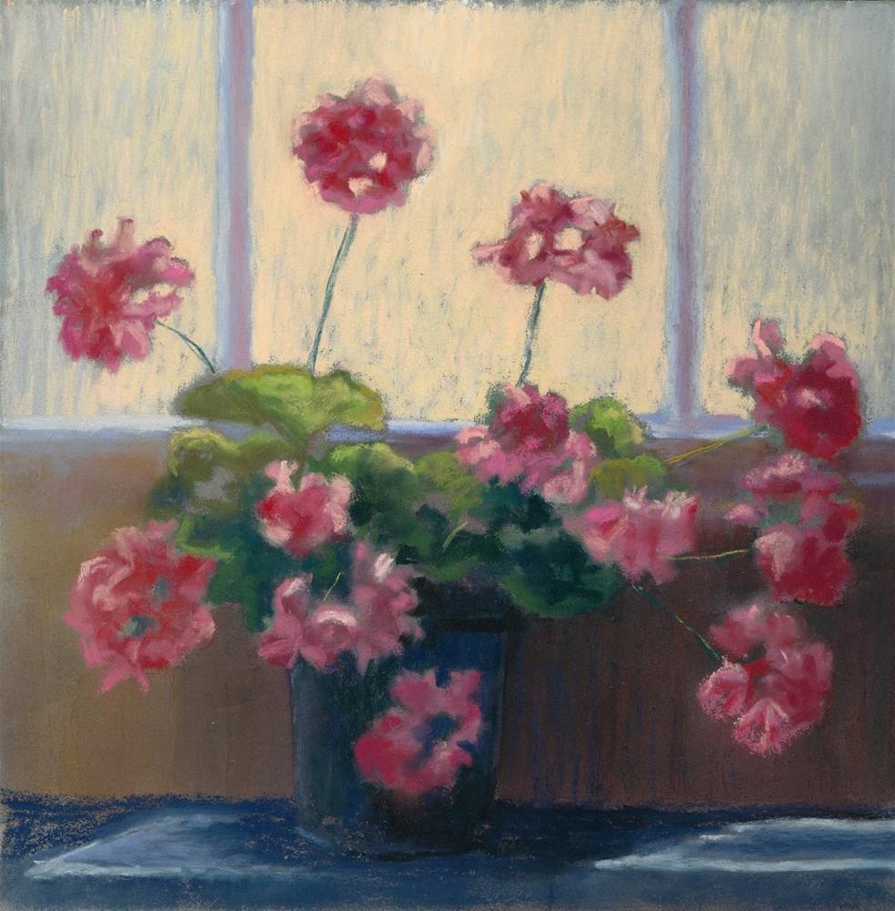 """Pelargoniums"" original fine art by Christine Derrick"