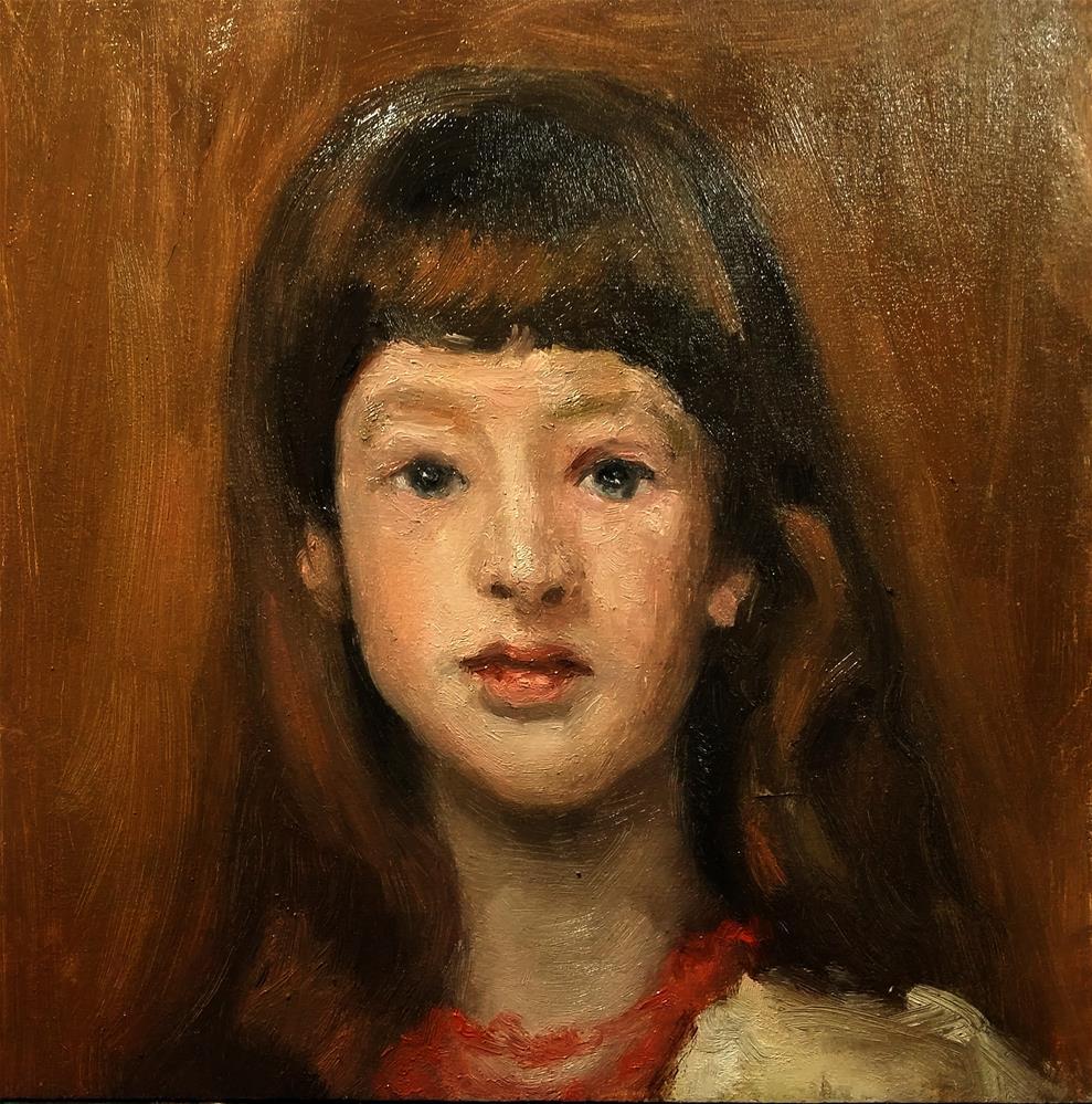 """Miss Beatrice Townsend John Singer Sargent Study"" original fine art by Aleksandra Uzarek"
