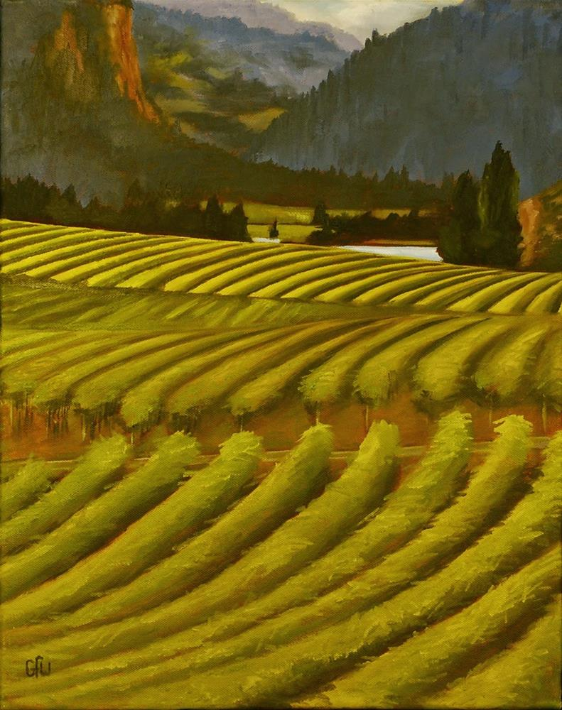 """Vineyard"" original fine art by Gary Westlake"