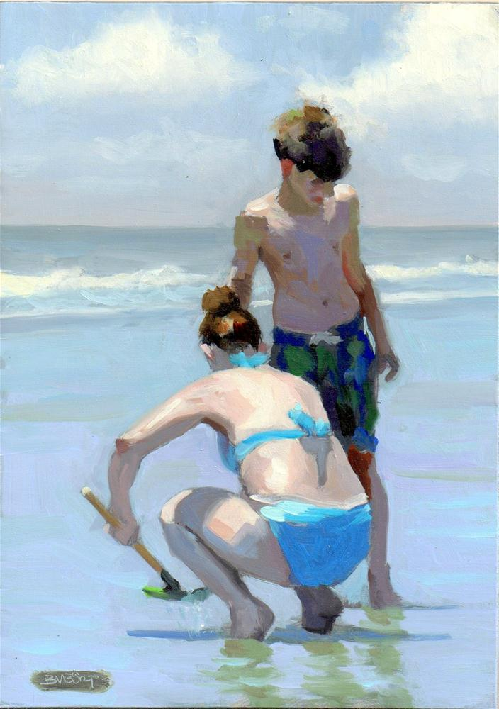 """#279 Shell Searching"" original fine art by Brian Burt"