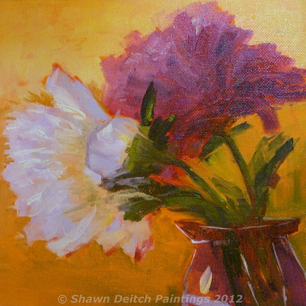 """Peonies"" original fine art by Shawn Deitch"