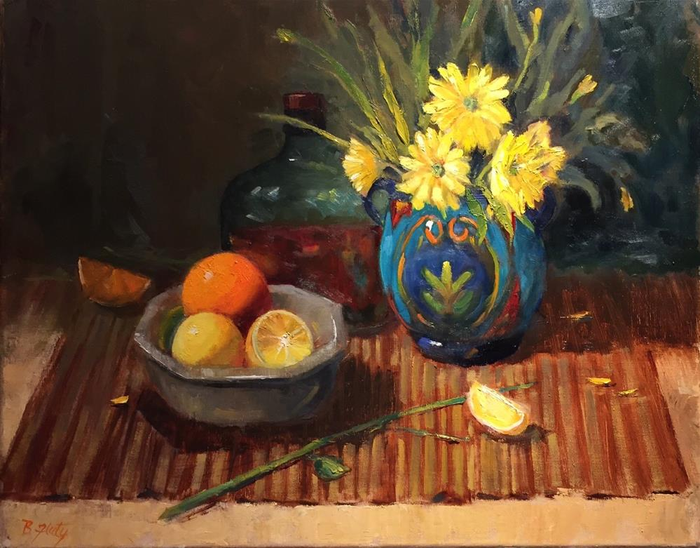 """Shine on Citrus"" original fine art by Barbara Fluty"