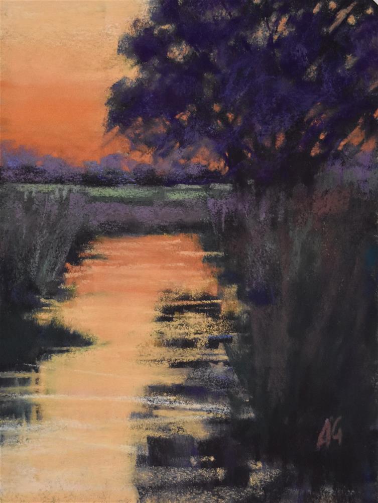 """Orange splash"" original fine art by Alejandra Gos"