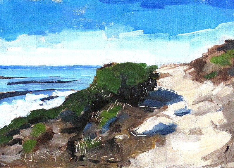 """San Diego Seascape Painting"" original fine art by Kevin Inman"