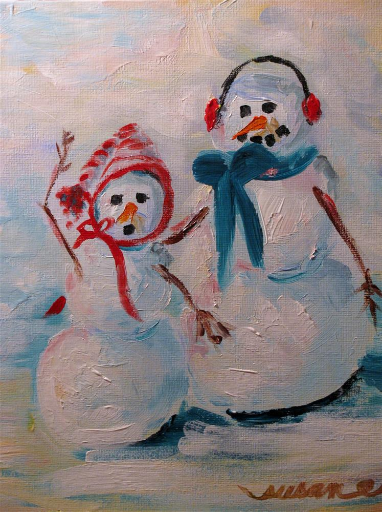 """January Jive"" original fine art by Susan Elizabeth Jones"
