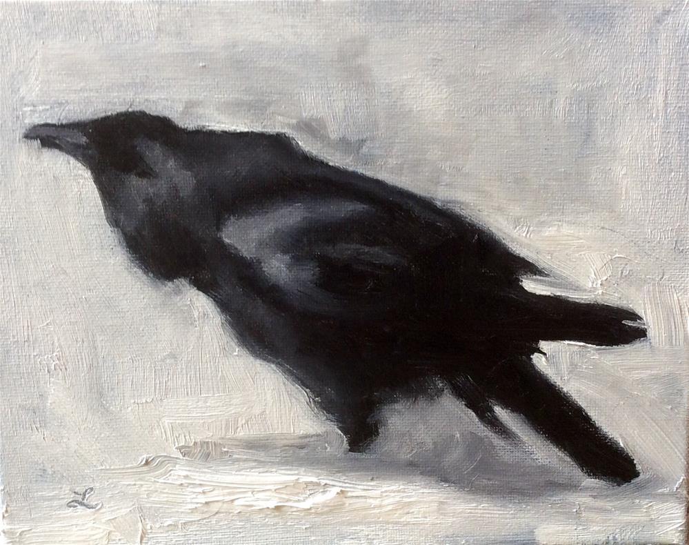 """Crow #4"" original fine art by Lori Jacobs - Farist"