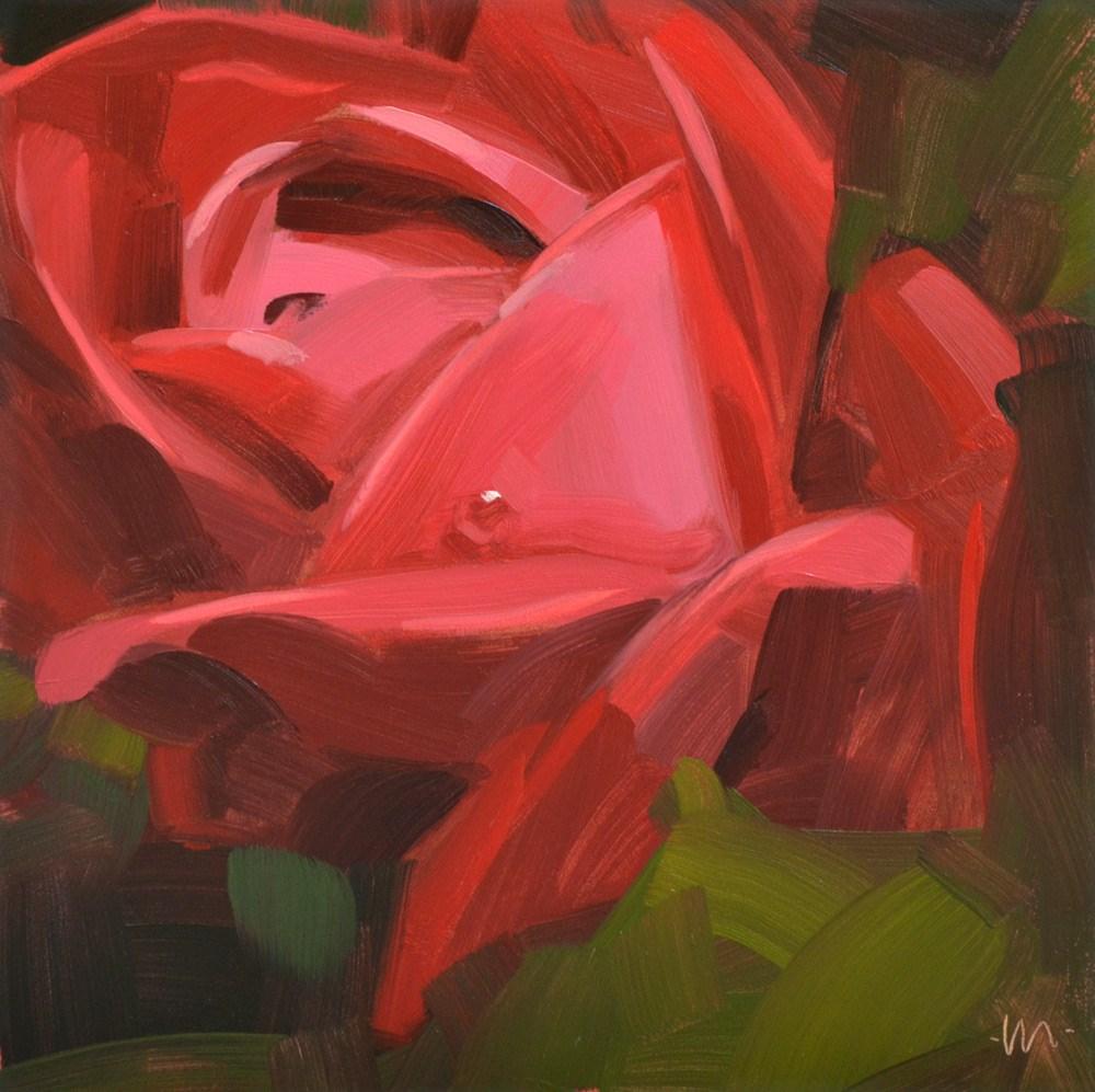 """One Drop Rose"" original fine art by Carol Marine"