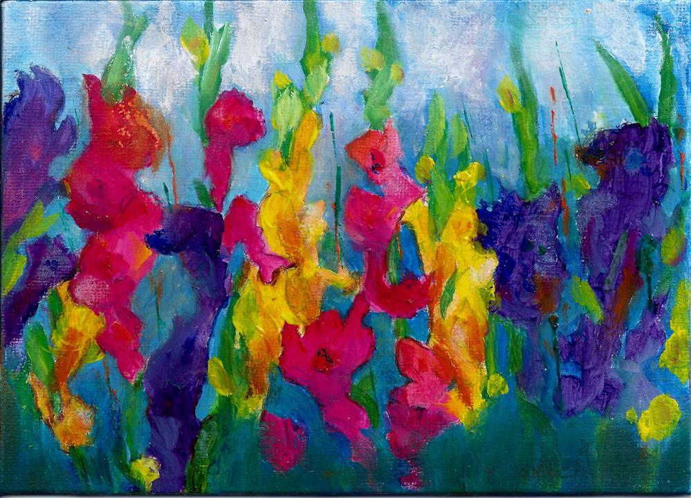 """Gladiola in spring"" original fine art by Elizabeth Current"