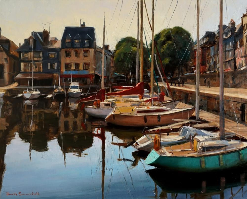 """Honfleur Marina II"" original fine art by Jonelle Summerfield"