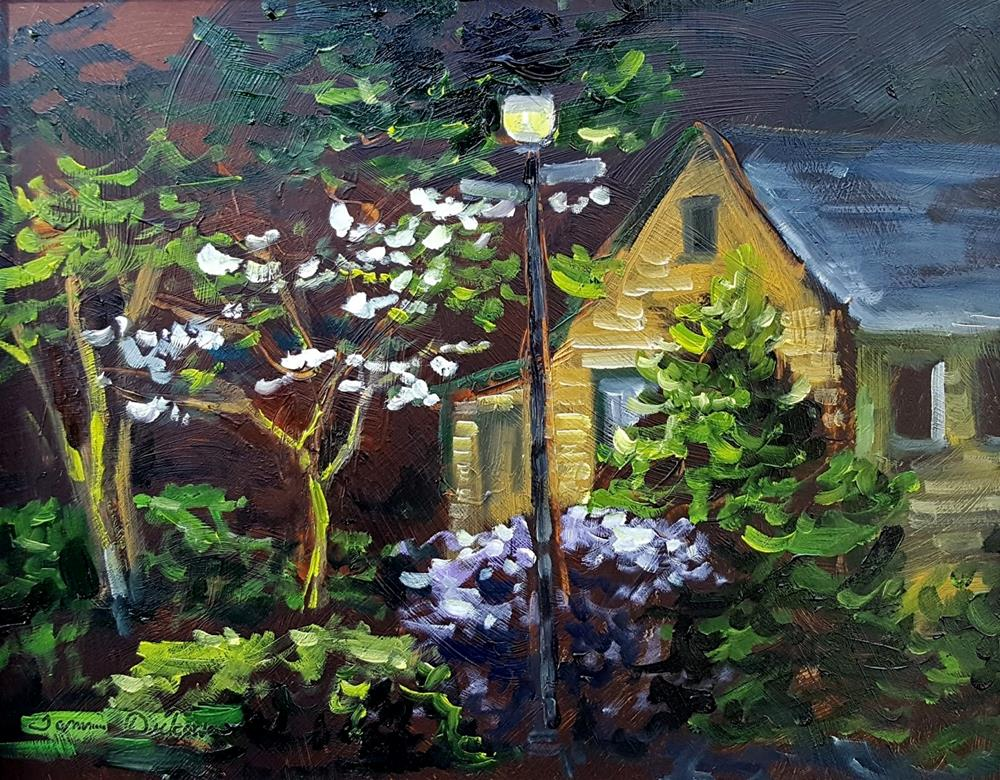 """Lamplight on Jefferson"" original fine art by Tammie Dickerson"
