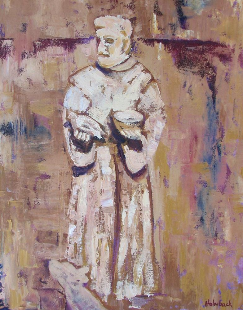 """St. Francis"" original fine art by Pam Holnback"