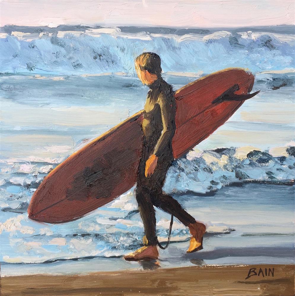 """""""Surfer"""" original fine art by Peter Bain"""