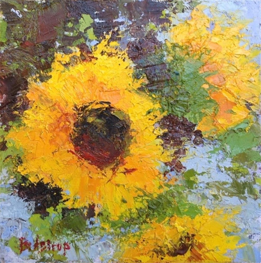 """Sunflowers"" original fine art by Mark Bidstrup"