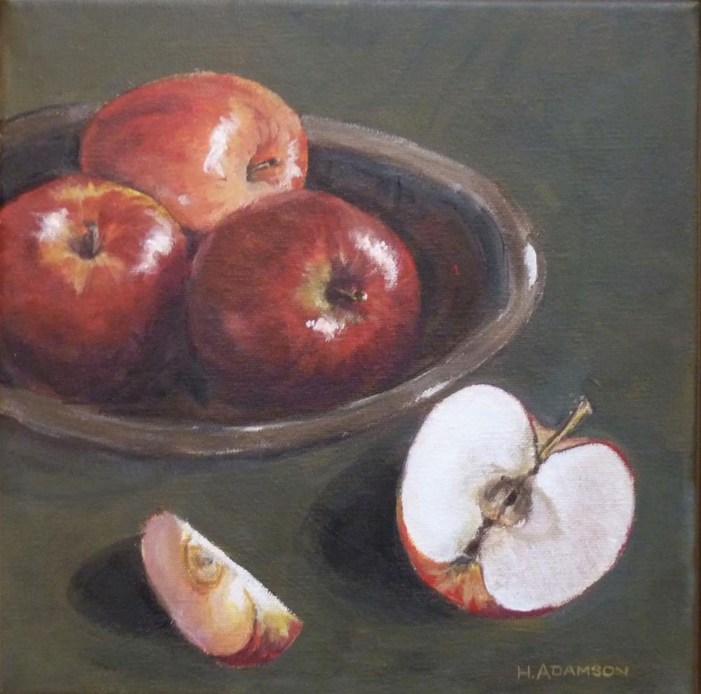 """""""Snack In Progress"""" original fine art by Helene Adamson"""