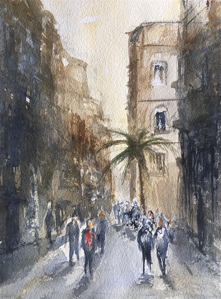"""TALLERS STREET -BARCELONA-"" original fine art by Ferran Llagostera"