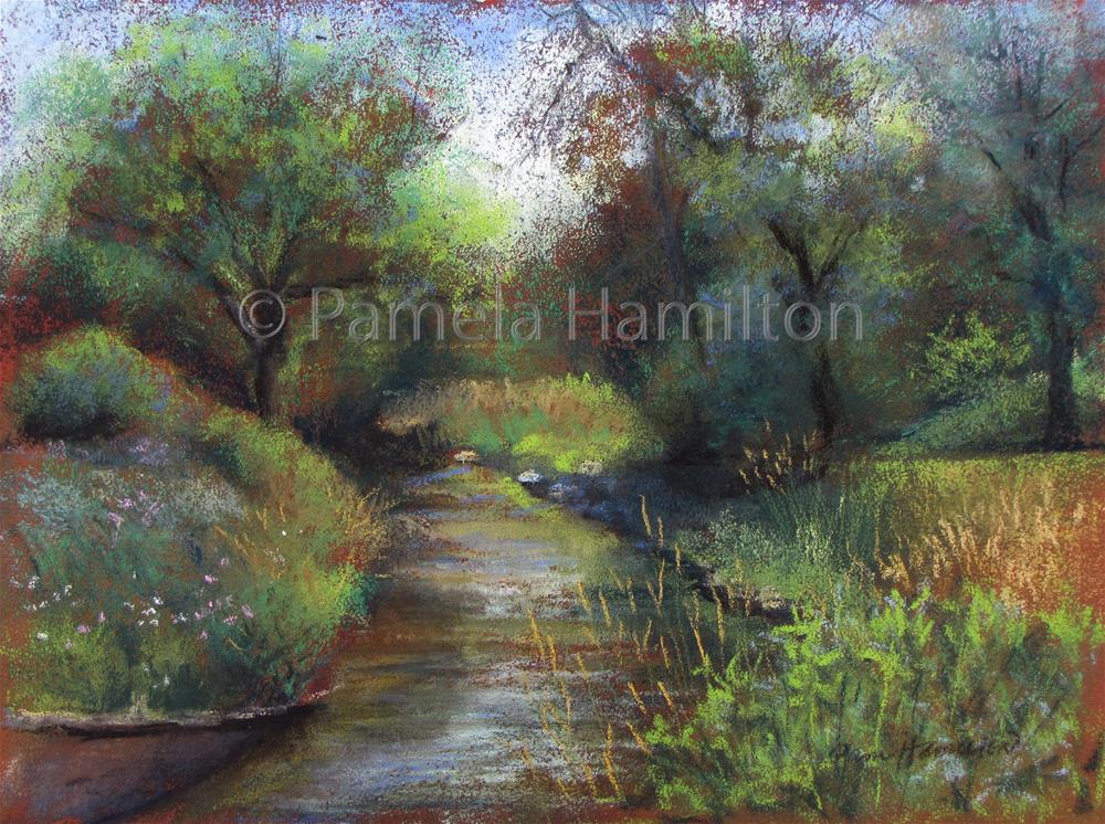 """Creek Bend"" original fine art by Pamela Hamilton"