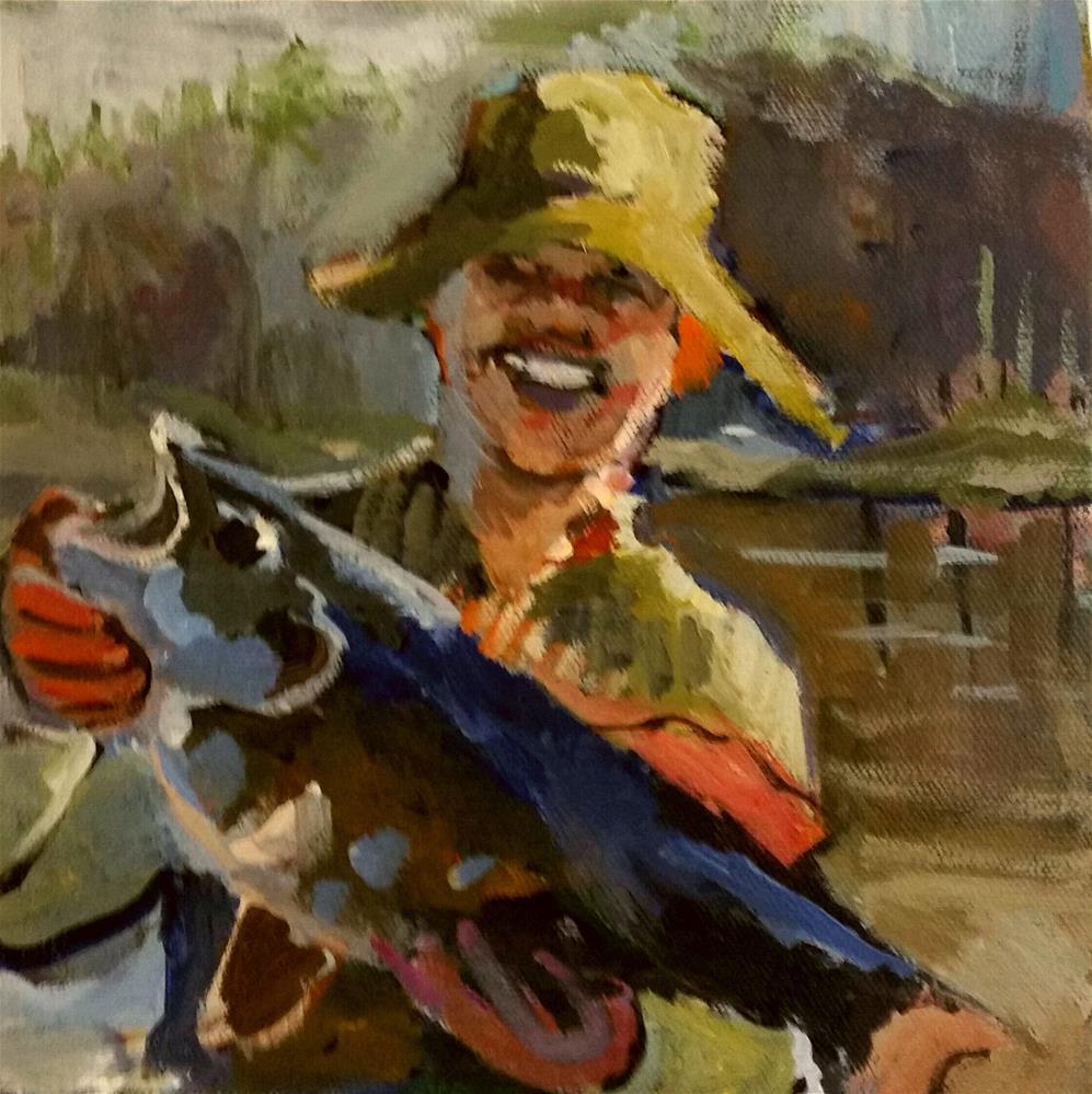 """catch of the day, lunenburg harbour "" original fine art by Liz Maynes"