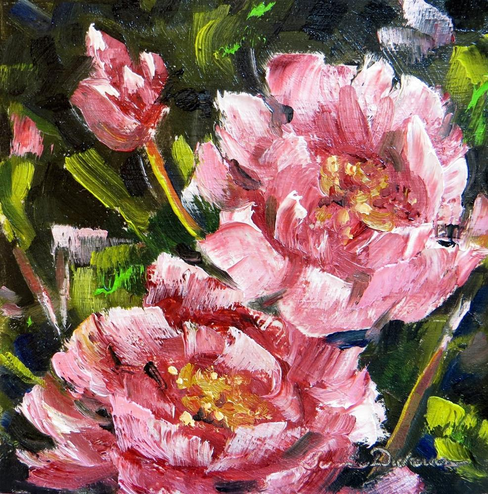 """Peonies in Pink"" original fine art by Tammie Dickerson"
