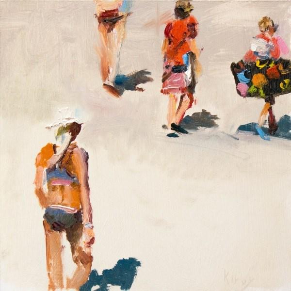 """Beach Trekking"" original fine art by Randall Cogburn"