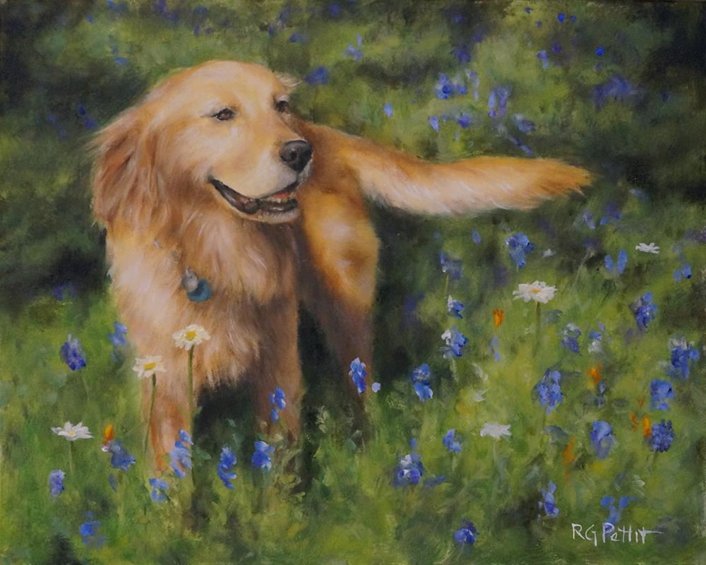 """Texas Beauty"" original fine art by Rhea  Groepper Pettit"