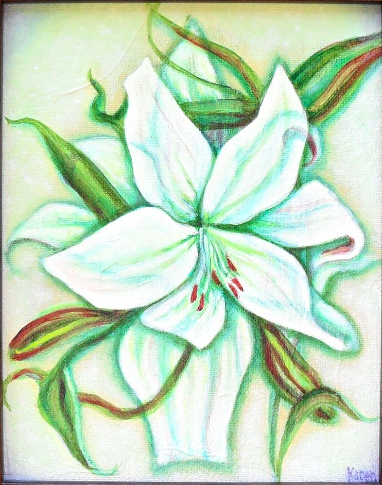 """Tangle Lily"" original fine art by Karen Roncari"