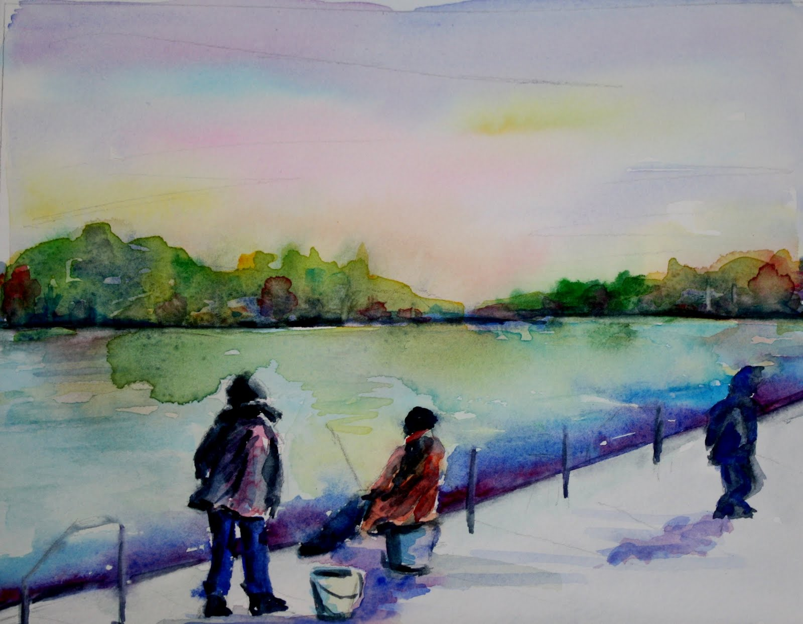 """Gone Fishing"" original fine art by Maggie Flatley"