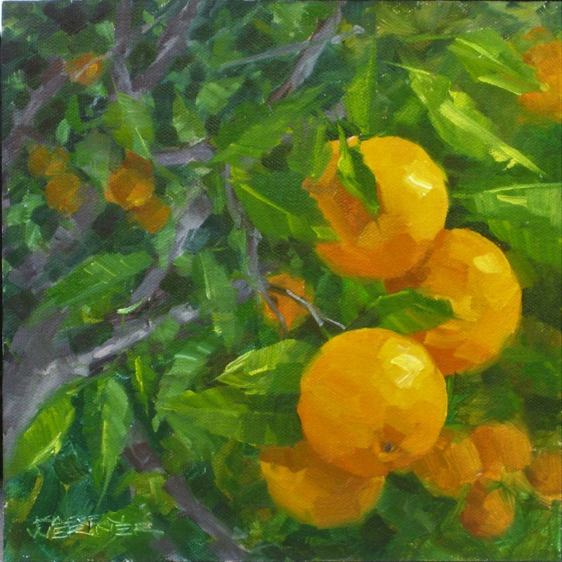 """Valencias"" original fine art by Karen Werner"