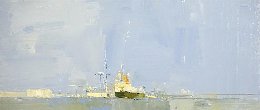 """China Import oil 12x20"" original fine art by Deborah R Hill"