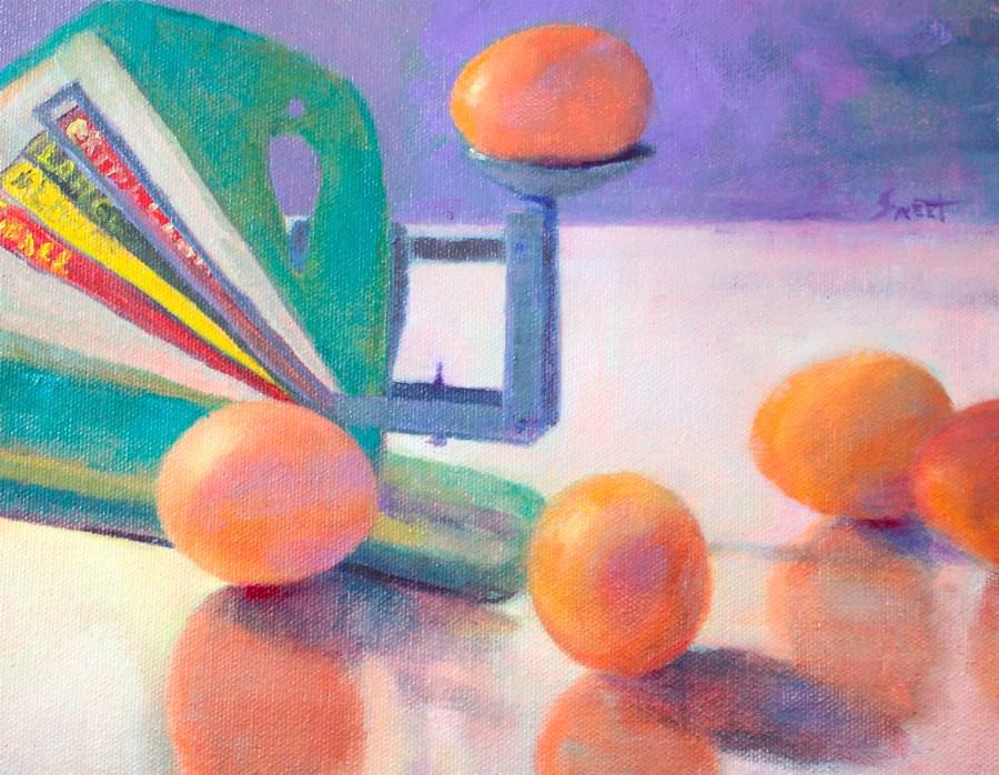 """""""Weight Watchers"""" original fine art by Pamela Sweet"""