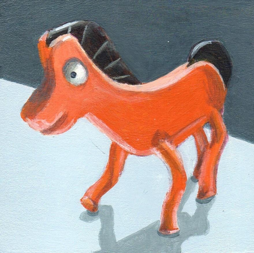 """Pokey"" original fine art by Debbie Shirley"