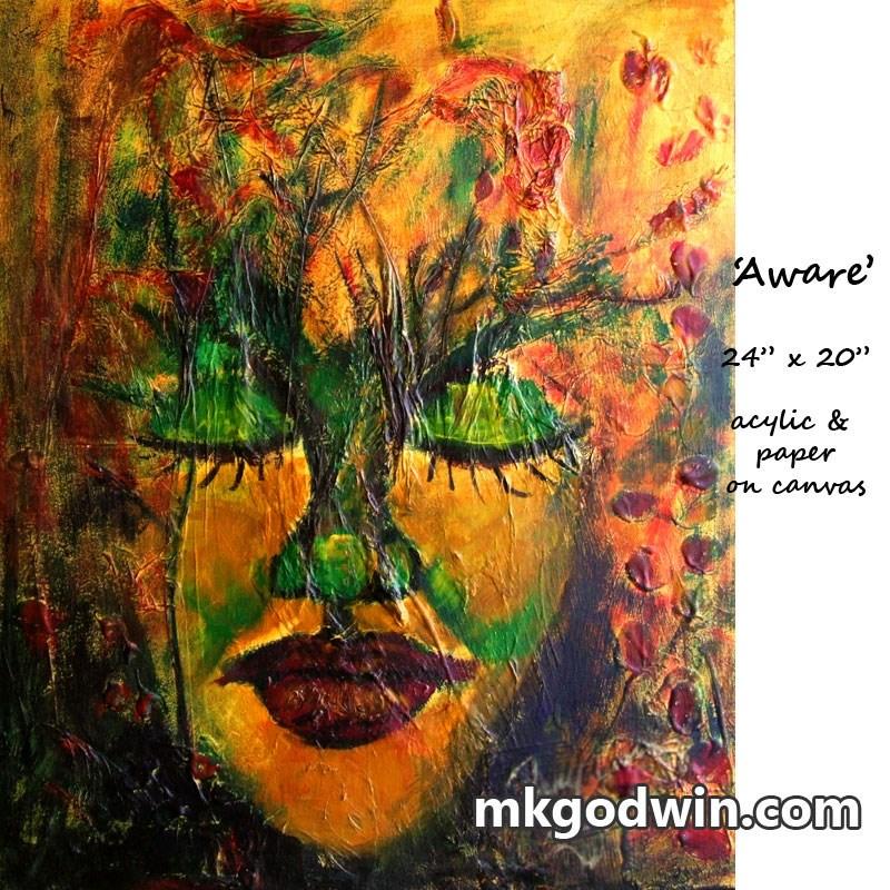 """""""Aware"""" original fine art by Marie K Godwin"""