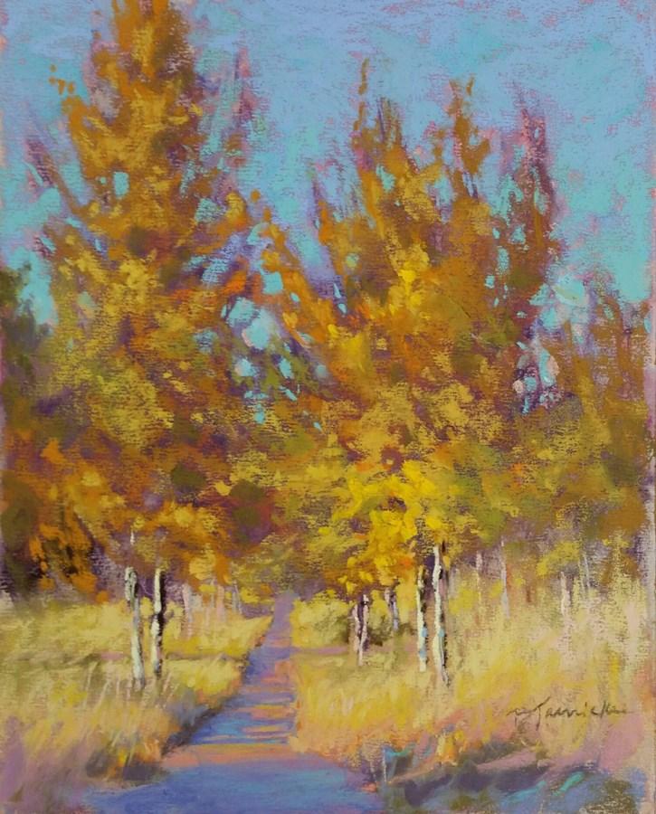 """Autumn Walk Through the Aspens"" original fine art by Barbara Jaenicke"