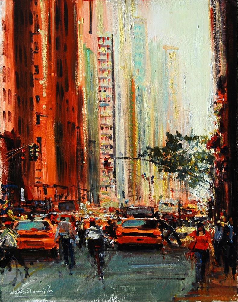"""""""Rush Hour V"""" original fine art by Adebanji Alade"""