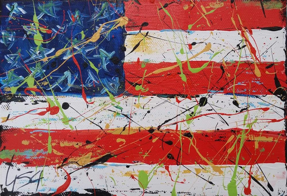 """141 - Another Great 4th"" original fine art by Lisa Rogers"