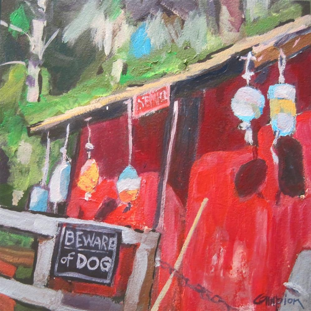 """205 Stay Away"" original fine art by Diane Campion"