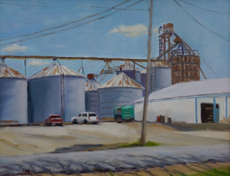 """New Melly Feed Store en Plein air"" original fine art by Daniel Fishback"