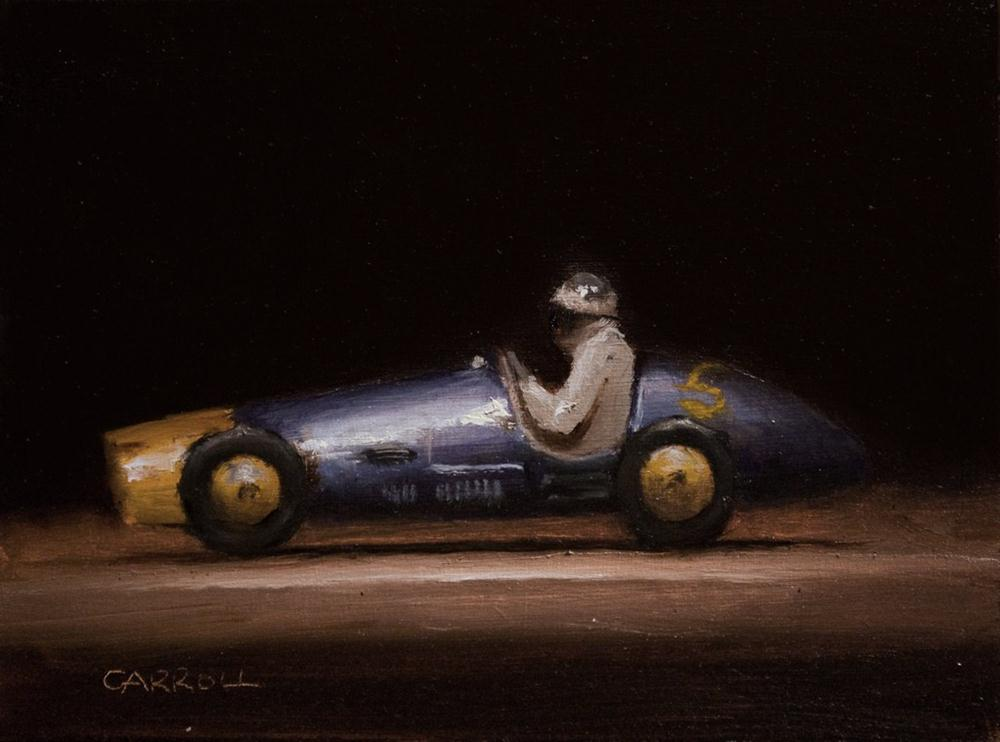 """Ferrari Toy Car - study"" original fine art by Neil Carroll"