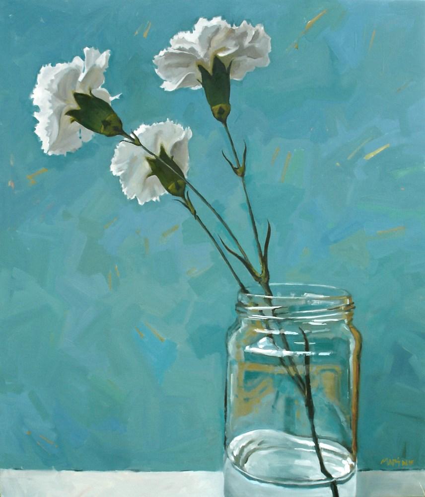 """""""3 Carnations"""" original fine art by Carol Marine"""