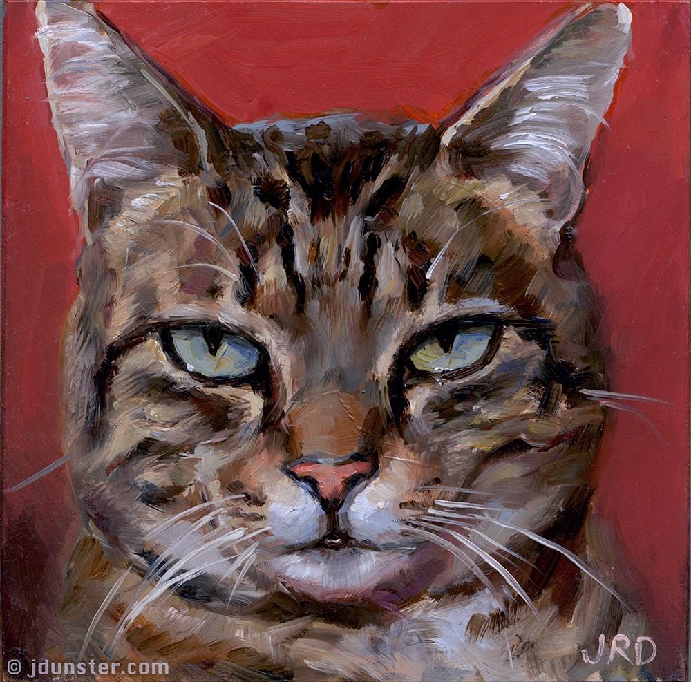 """Mug Shot Tabby"" original fine art by J. Dunster"